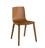 Chairs Aava — 4 wood legs - Arper