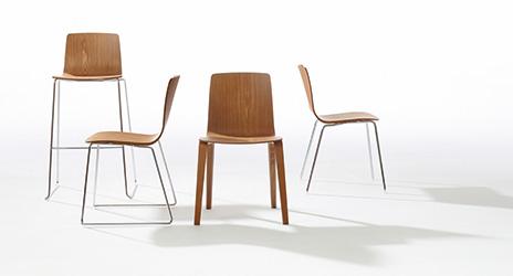 Arper Juno Stoel : Restricted area arper design furniture