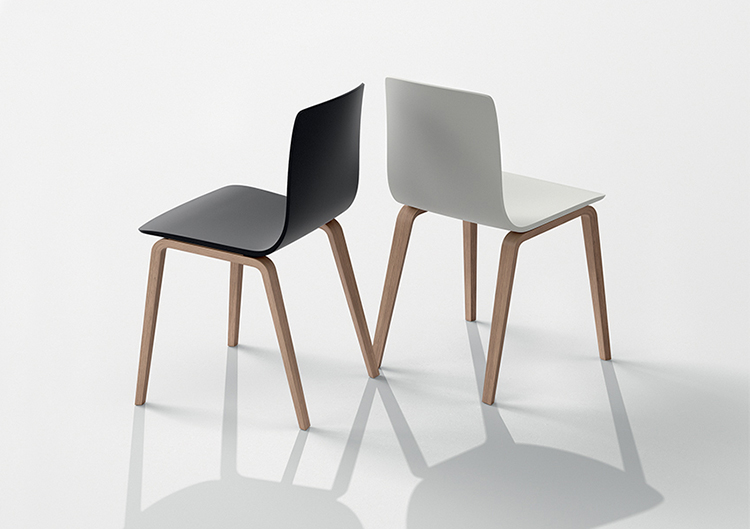Chairs Aava — 4 wood legs - Aava Arper  1