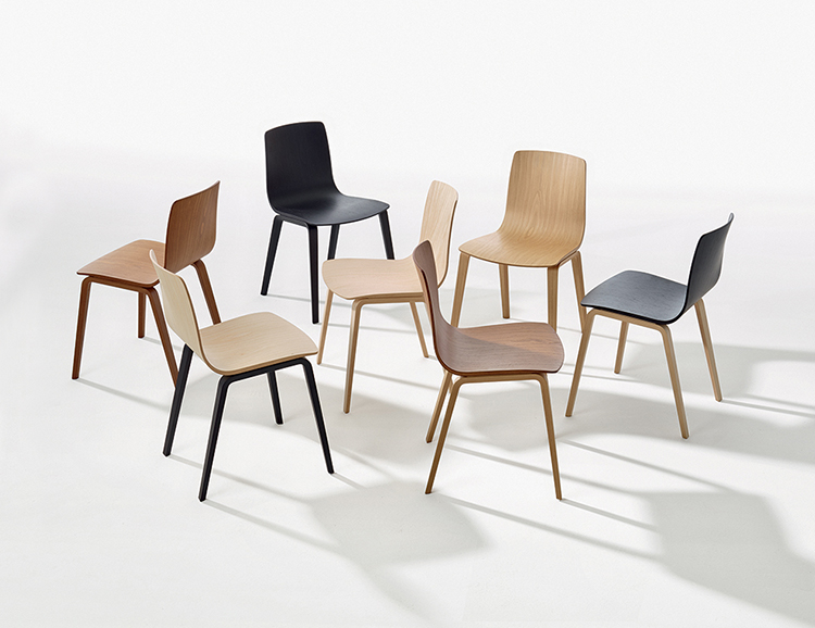 Chairs Aava — 4 wood legs - Aava Arper  2