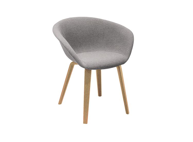 Duna 02 4 Wood Legs Arper Design Furniture