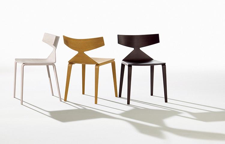 Saya 4 wood legs arper design furniture - Chaises design soldes ...