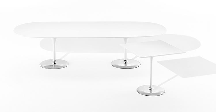 duna tisch h 74 doppeltem fu arper designerm bel. Black Bedroom Furniture Sets. Home Design Ideas