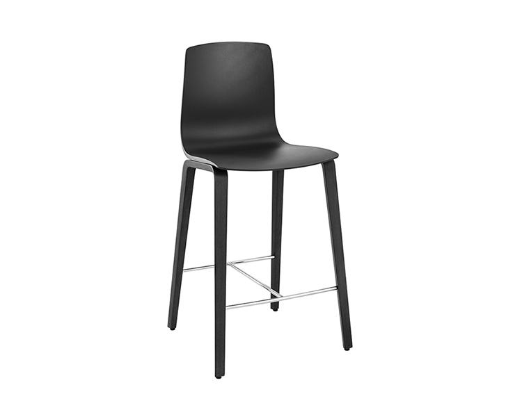 Aava — Counter stool 4 wood legs - Aava Arper  2
