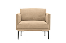 Lounge Steeve — 1 seat, seat and backrest cushions - Arper