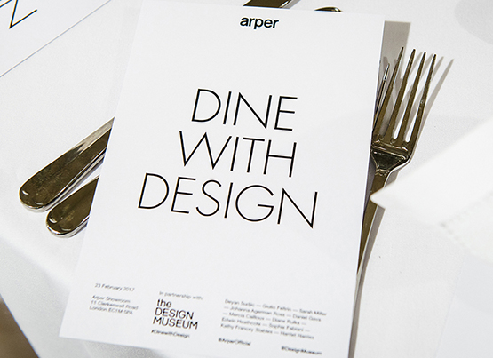 Dine with Design at the London showroom
