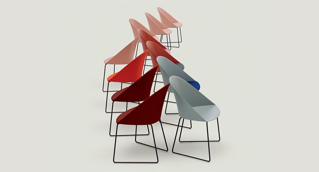 Arper Juno Stoel : Arper furniture for contract office and public spaces