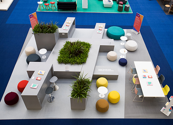 Arper Social Hub at 100% Design 2018