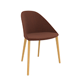 Chairs Cila — Chair 4 wood legs - Arper
