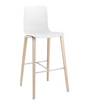 Stools Aava — Bar stool 4 wood legs - Arper