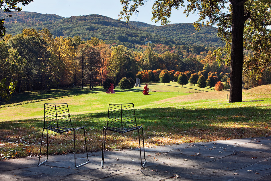 Arper Leaf chair at Storm King Art Center, Mountainville, New York
