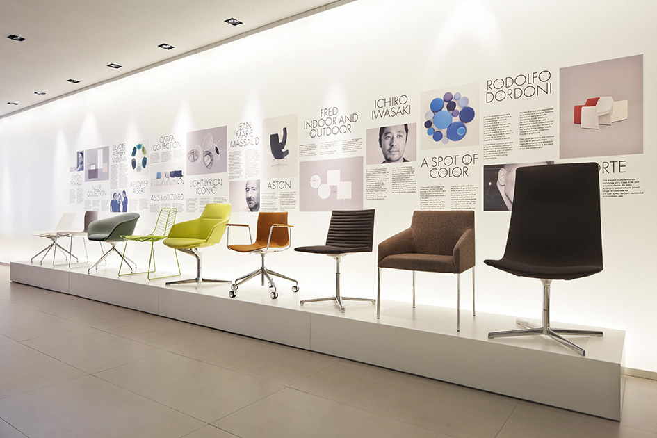 Stories new showroom milan arper for Sedie design furniture e commerce