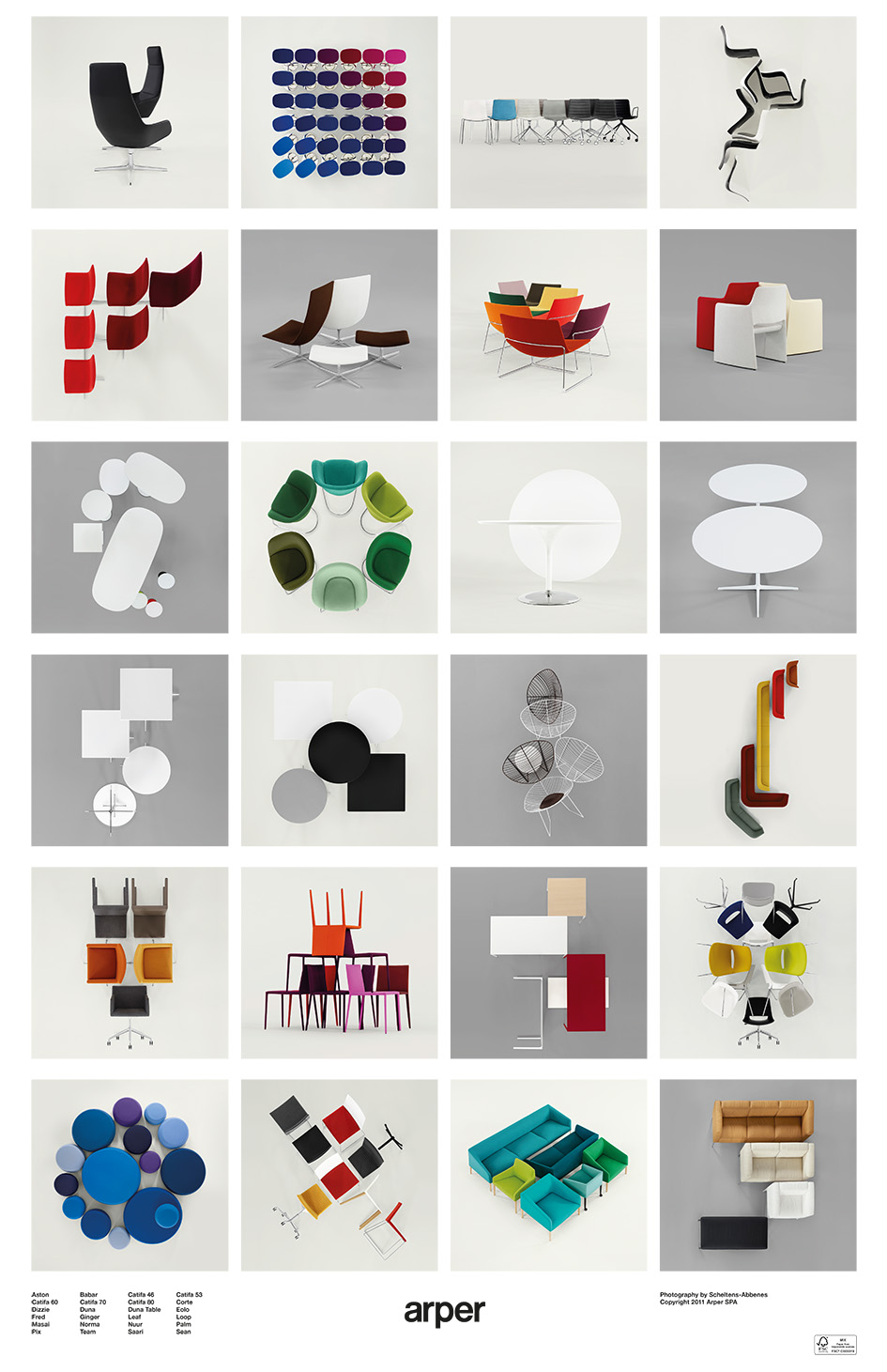 Arper collections poster - photo Scheltens & Abbenes