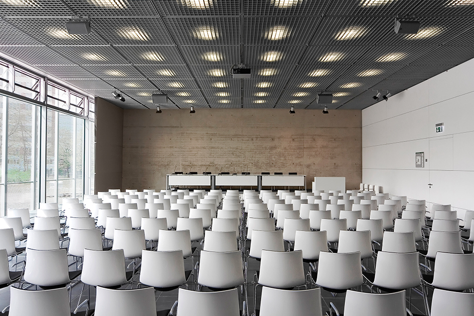 Topography of Terror Catifa chairs in the auditorium