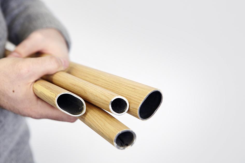 wood veneer tubes