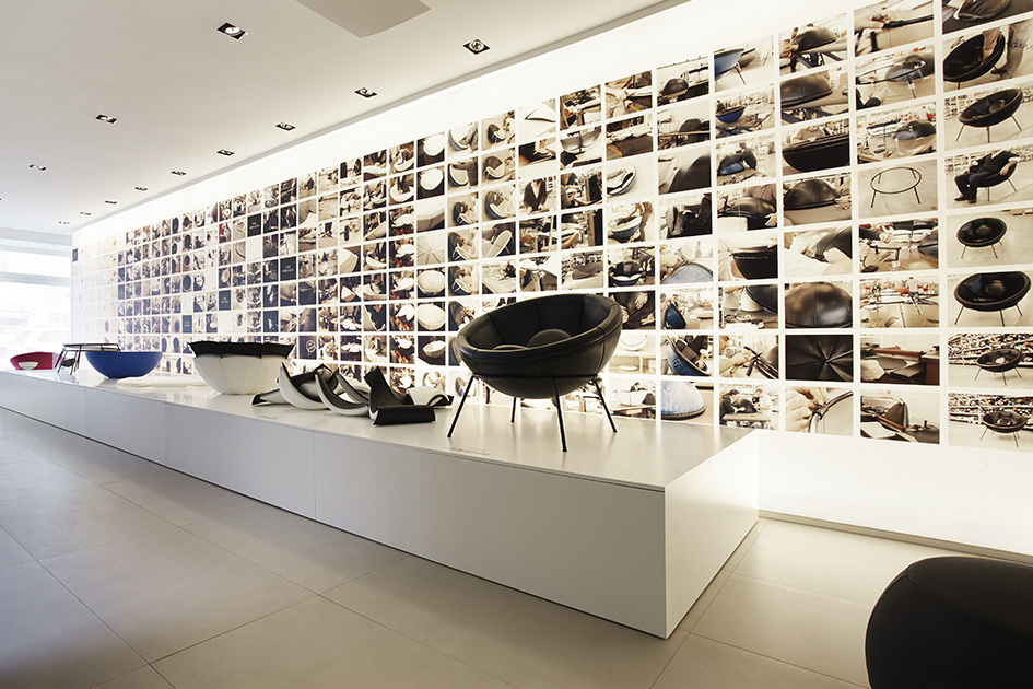 Bardi's Bowl chair Showroom Arper Milano