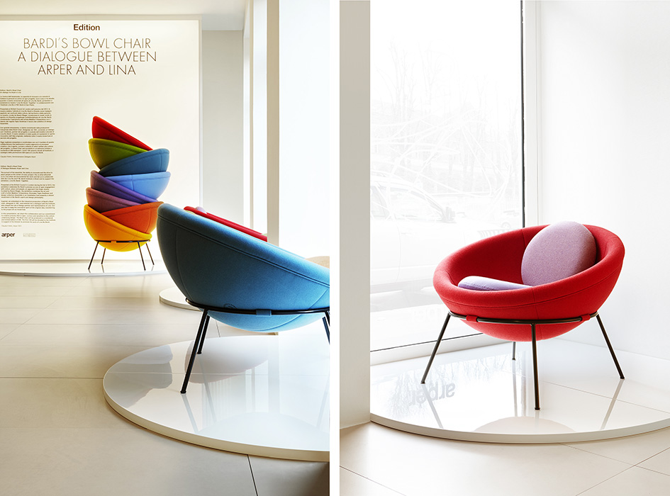 Bardi's Bowl Chair Arper Showroom Milano